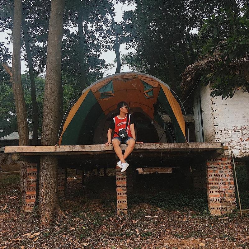 khu cắm trại đồng mô