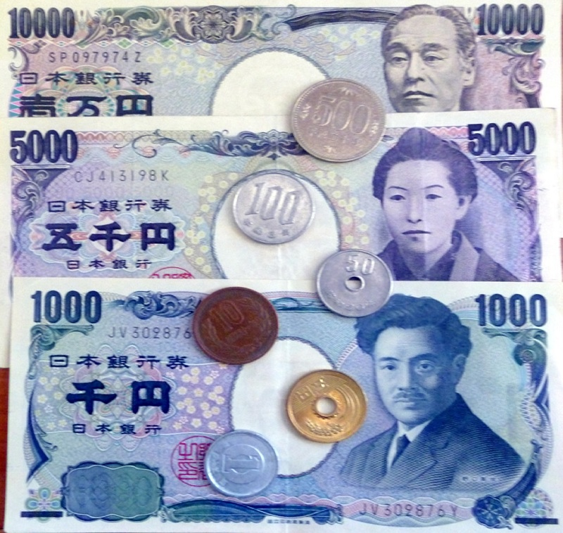 Tiền giấy và tiền xu Nhật