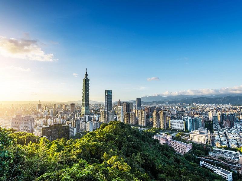 Toàn cảnh thủ đô Đài Bắc nhìn từ trên cao