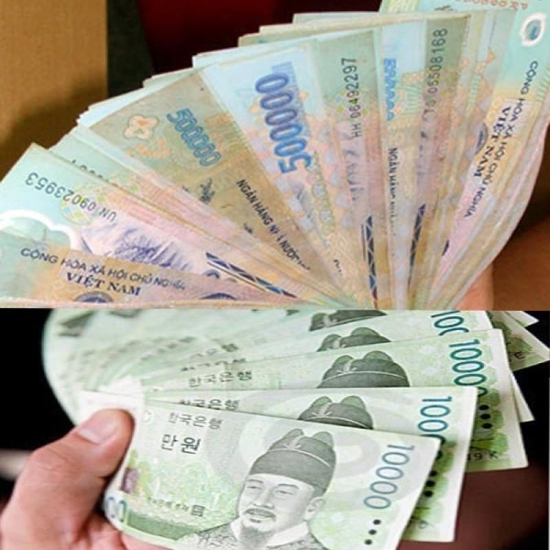 Đổi tiền Việt sang tiền won hàn Quốc