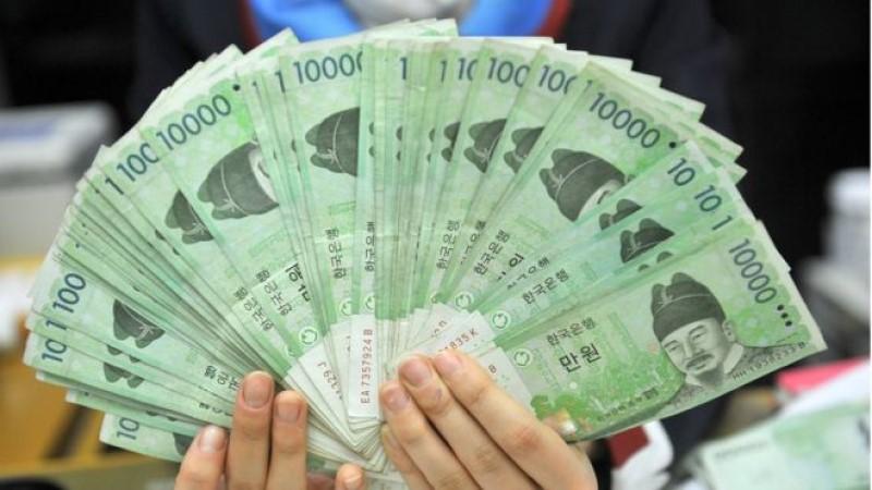 Xấp tiền Hàn Quốc