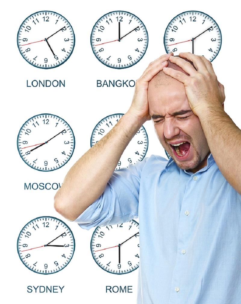 Tình trạng chênh lệch múi giờ khiến bạn cảm thấy khó chịu