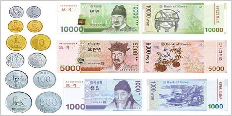 Các loại tiền của Hàn Quốc