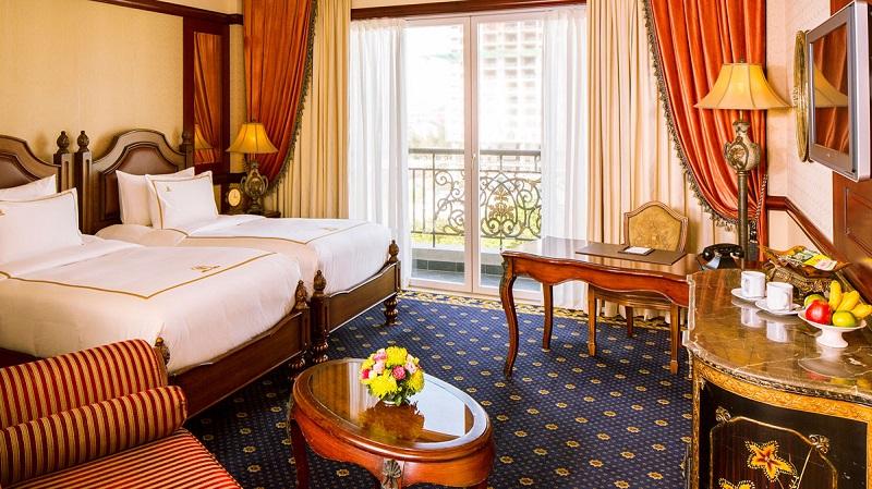 Không gian phòng ngủ sang trọng ở khách sạn Imperial Vũng Tàu