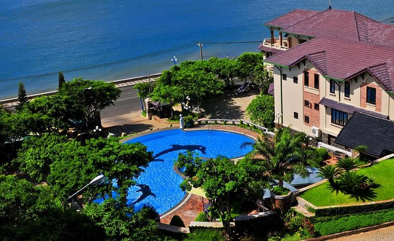 Khuôn viên khách sạn Kỳ Hòa Vũng Tàu nhìn từ trên cao