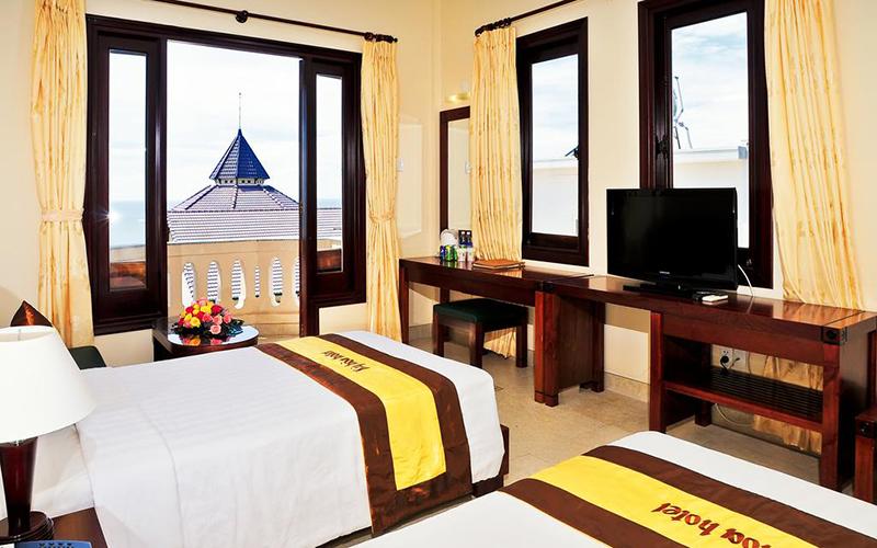 Không gian phòng ngủ bên trong khách sạn Kỳ Hòa Vũng Tàu