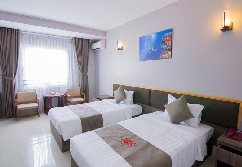 Không gian phòng ngủ của khách sạn San Hô Vũng Tàu