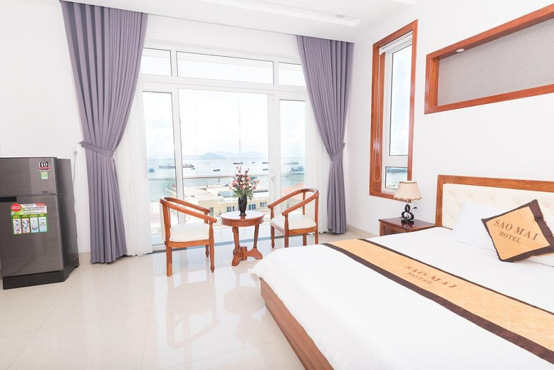 Không gian bên trong phòng ngủ ở khách sạn Sao Mai Vũng Tàu