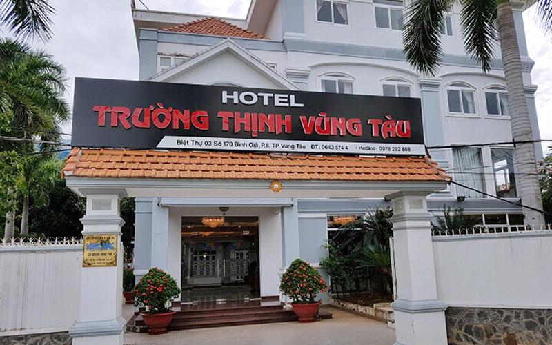 Không gian bên ngoài khách sạn Trường Thịnh Vũng Tàu