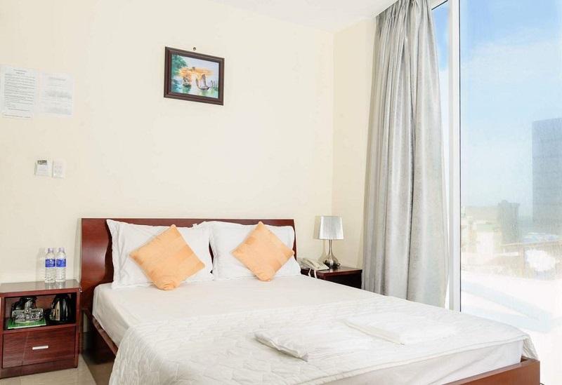 Không gian phòng ngủ của khách sạn Minh Nhân Vũng Tàu