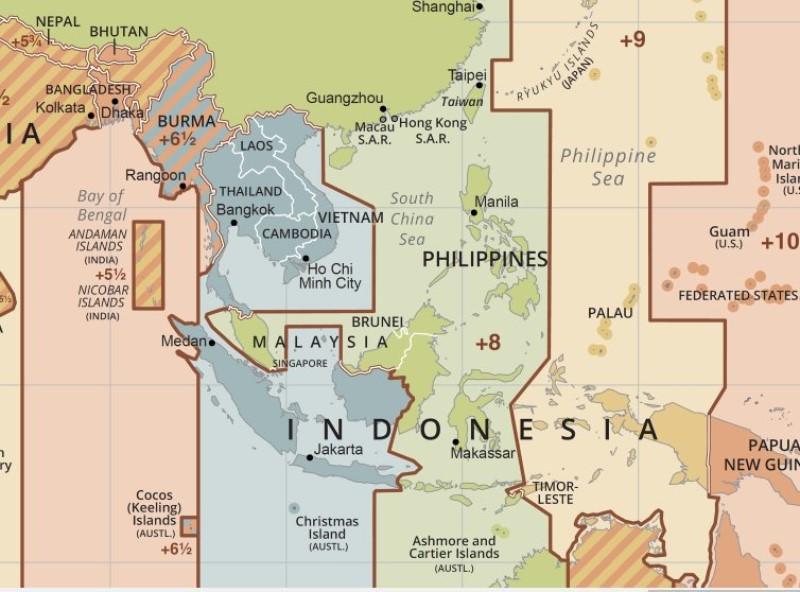 Bản đồ múi giờ các nước