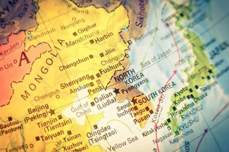 Vị trí của Hàn Quốc trên bản đồ