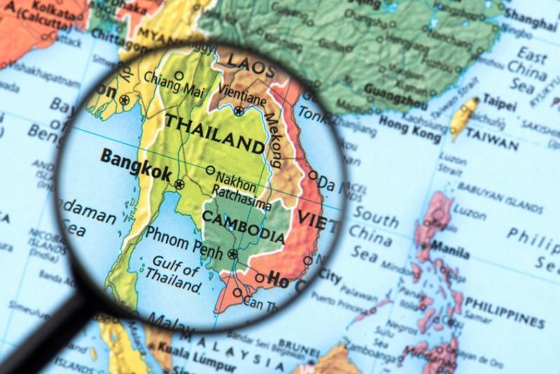 Vị trí của Thái Lan trên bản đồ