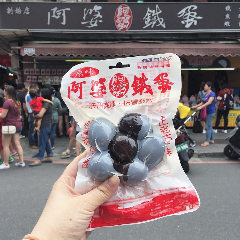 Trứng sắt Đài Loan được đóng gói hút chân không