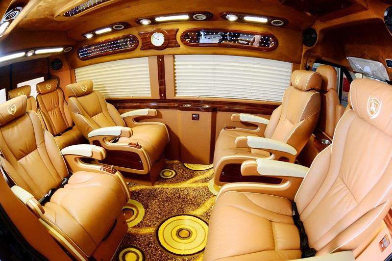 Không gian ghế ngồi bên trong xe Thành Vinh đi Vũng Tàu