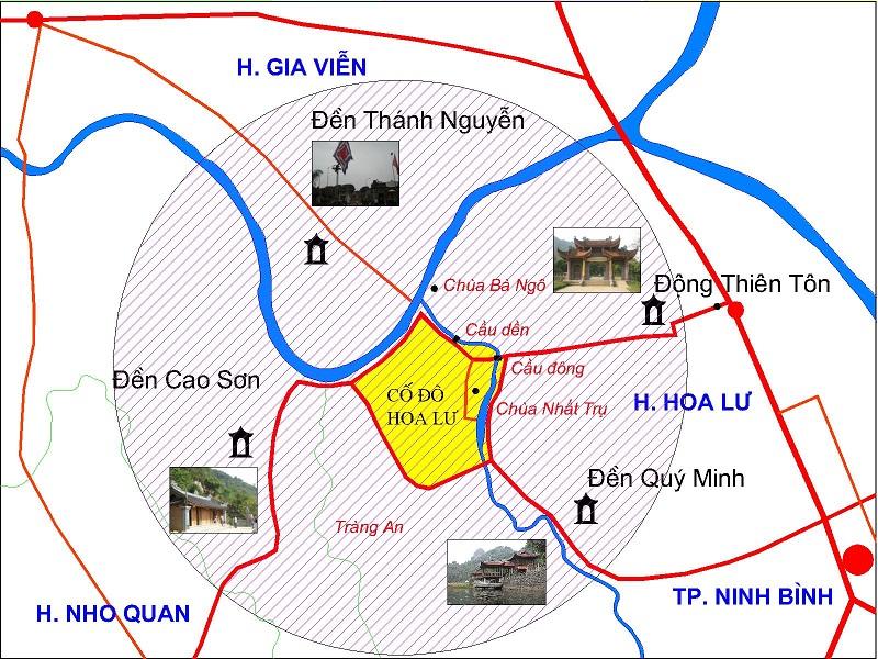 Bản đồ du lịch các điểm tại Gia Viễn Nho Quan