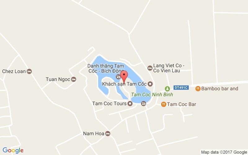 Bản đồ du lịch Ninh Bình cụm Tam Cốc Bích Động (cụm danh thắng Tam Cốc - Thung Nham)