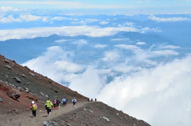 Đường mòn Gotemba hướng về phía biển mây