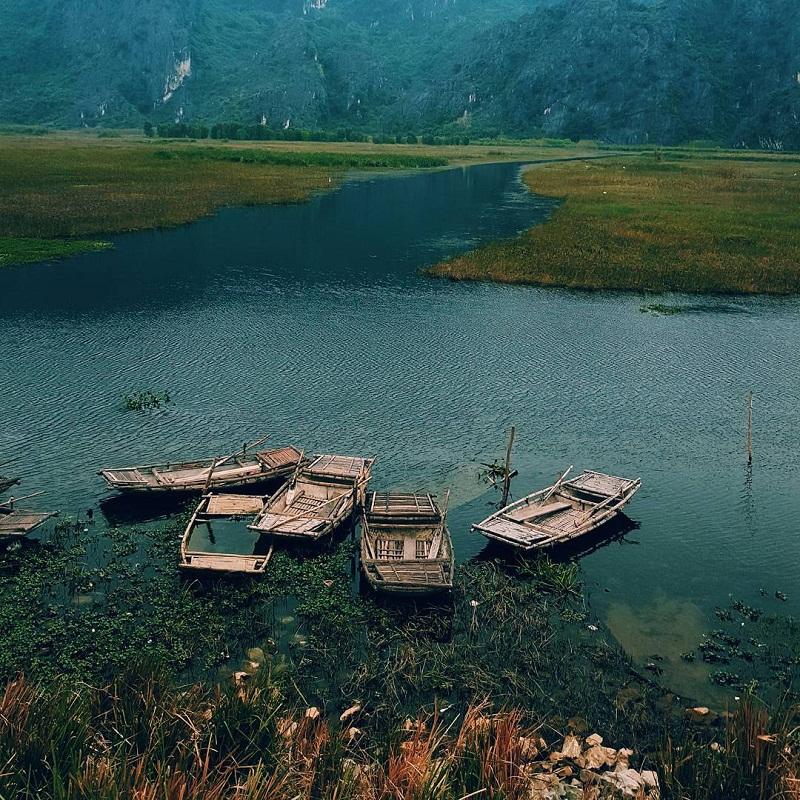 Bến thuyền đầm Vân Long ngập nước