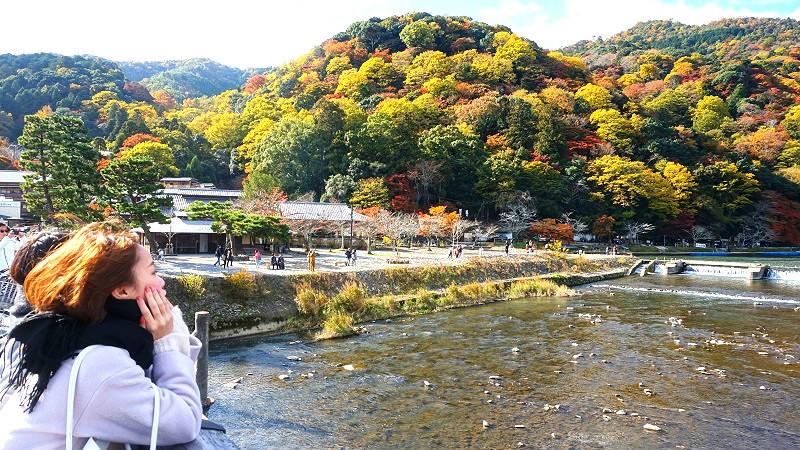 Arashiyama với những rừng cây nhiều màu