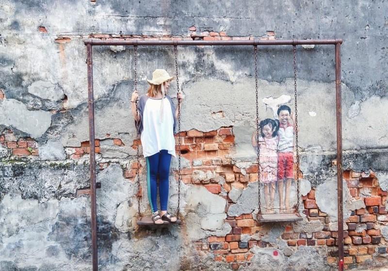 Những bức tường nghệ thuật tại Penang