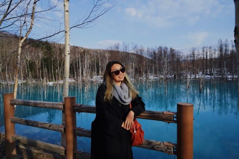 Hồ Xanh Biei yên bình vào mùa đông