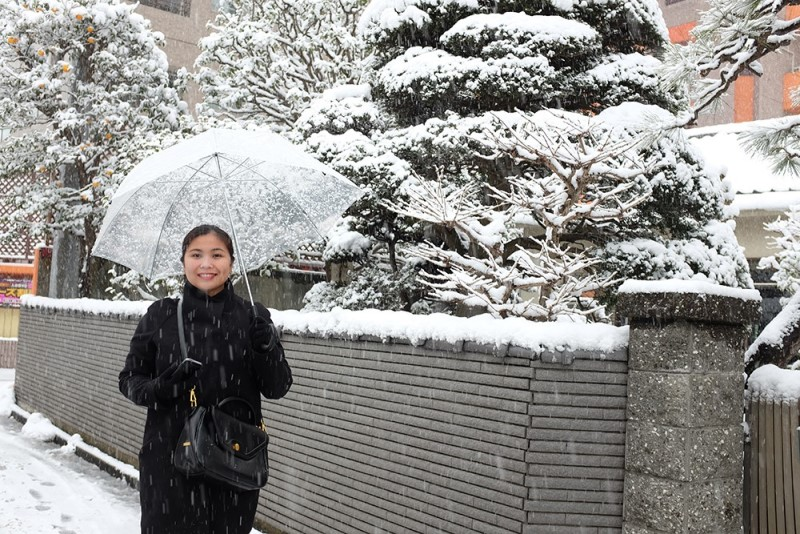 Nên mang theo ô bởi có những ngày tuyết rơi nhiều