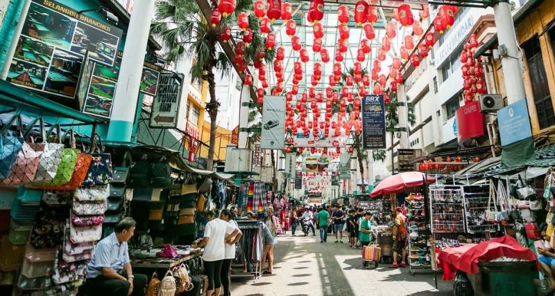 Khu chợ ở Malaysia