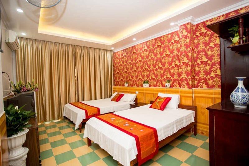 Không gian phòng nghỉ tiện nghi tại nhà nghỉ Xuân Hoa