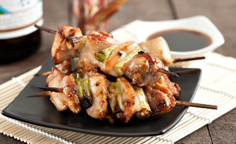 Những xiên thịt gà rau củ yakitori