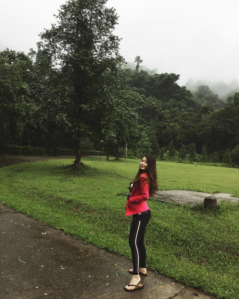 Đoạn đường di chuyển vào rừng quốc gia Cúc Phương