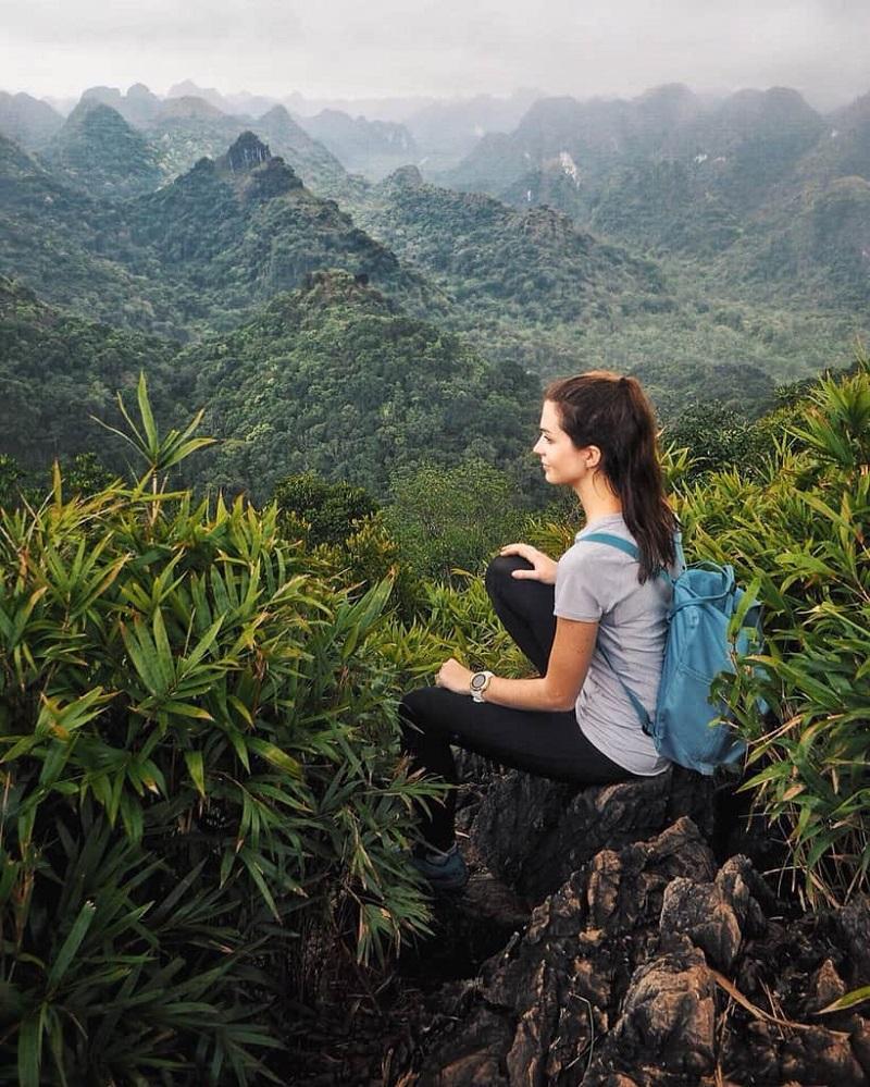 Toàn cảnh rừng Cúc Phương nhìn từ trên cao