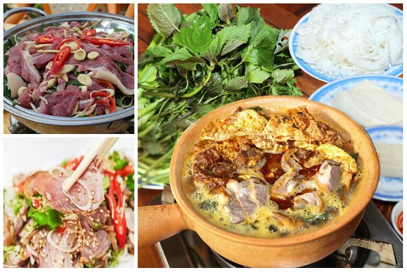 Thịt dê được chế biến thành nhiều món khác nhau