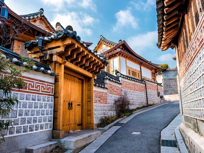 Dọc đoạn đường làng cổ Jeonju Hanok