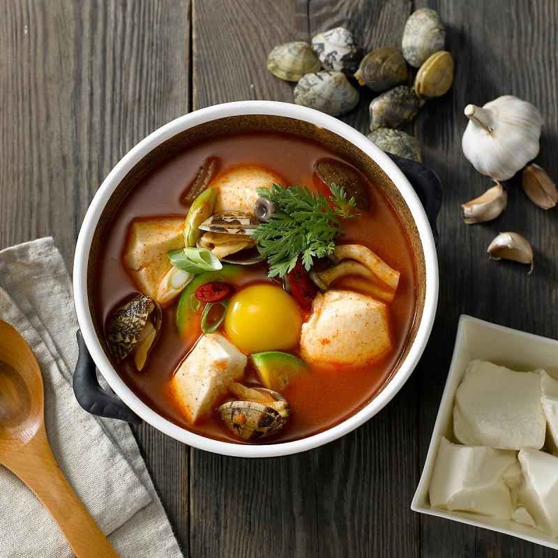 Món đậu phụ hầm cay Soon-dubu Jji-gae