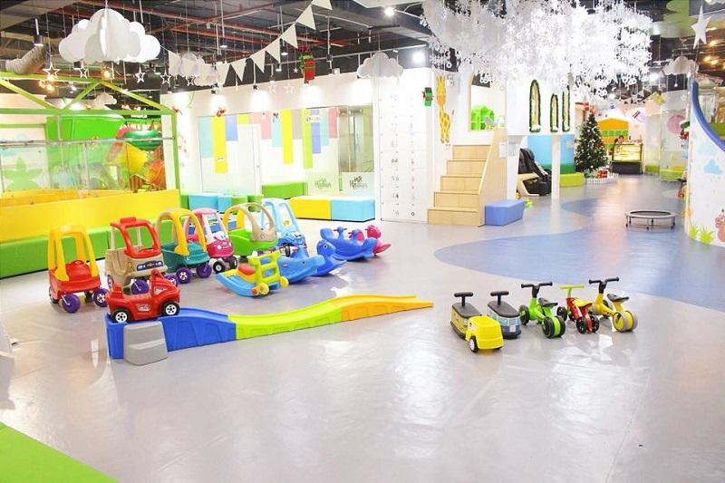 Mr.Haahoo có không gian vui chơi đa dạng với nhiều trò chơi khác nhau
