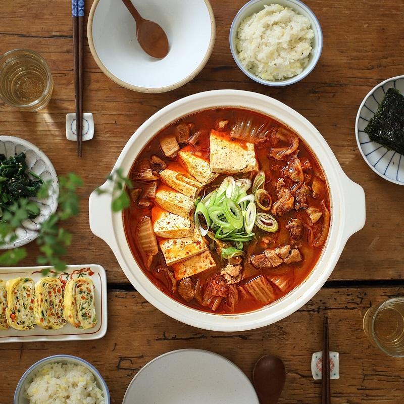 Món canh kim chi hầm