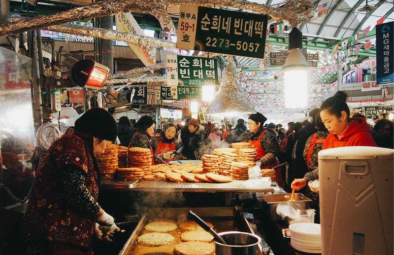 những món đường phố ở chợ Gwangjang