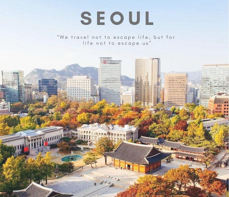 Khuôn viên cung điện ở Seoul Hàn Quốc