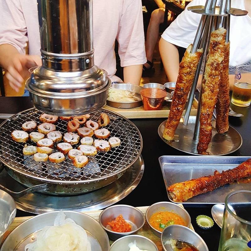 Lòng nướng Makchang Hàn Quốc