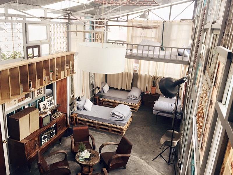 Không gian phòng đậm chất vintage của Là Nhà Homestay