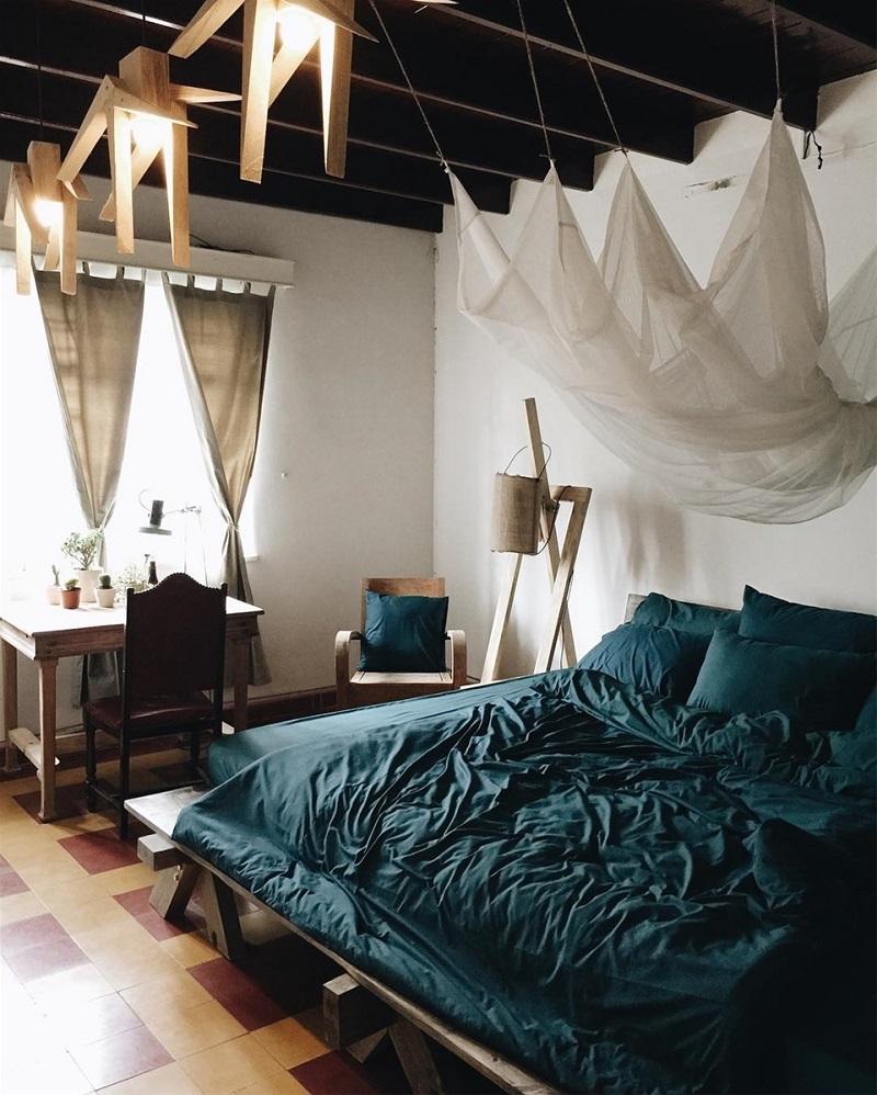 Không gian bên trong phòng ngủ của Second House Đà Lạt