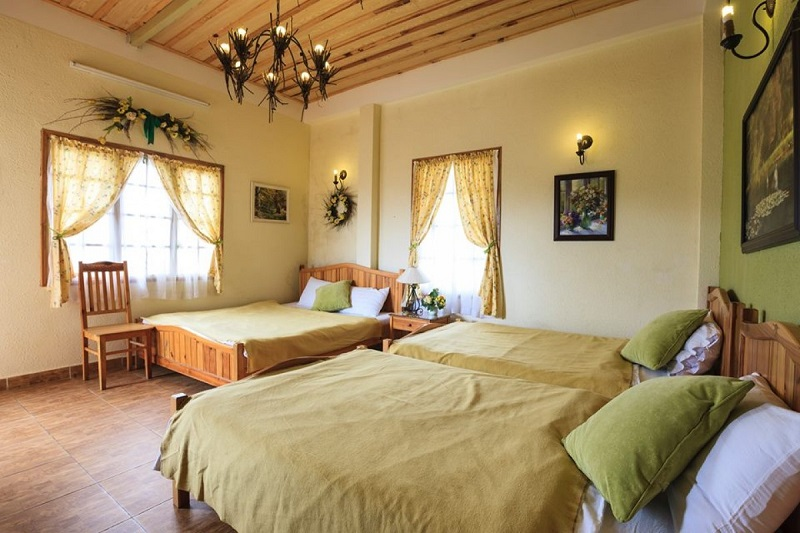Các căn phòng ở biệt thự Hoa Đá cũng được thiết kế xinh xắn, ấm cúng.