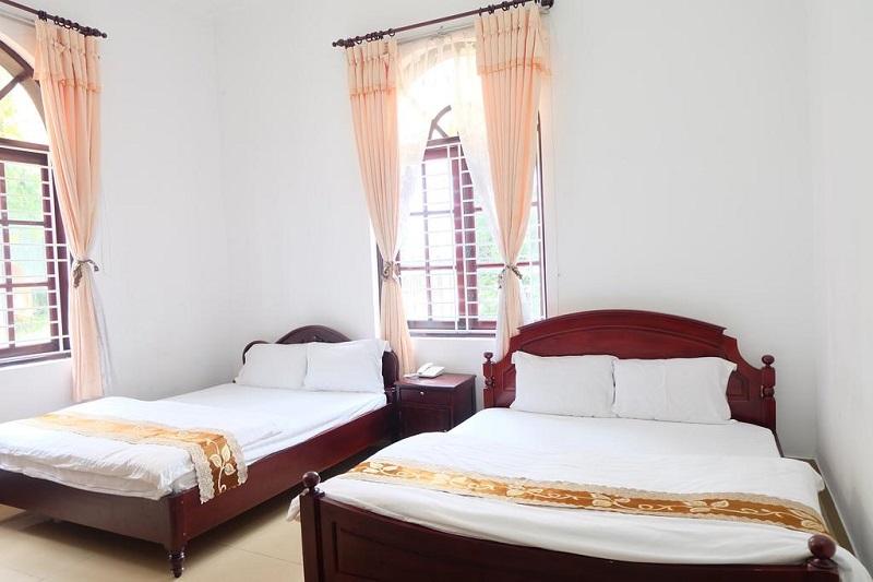 Phòng của villa T89 tuy đơn giản nhưng đầy đủ tiện nghi.