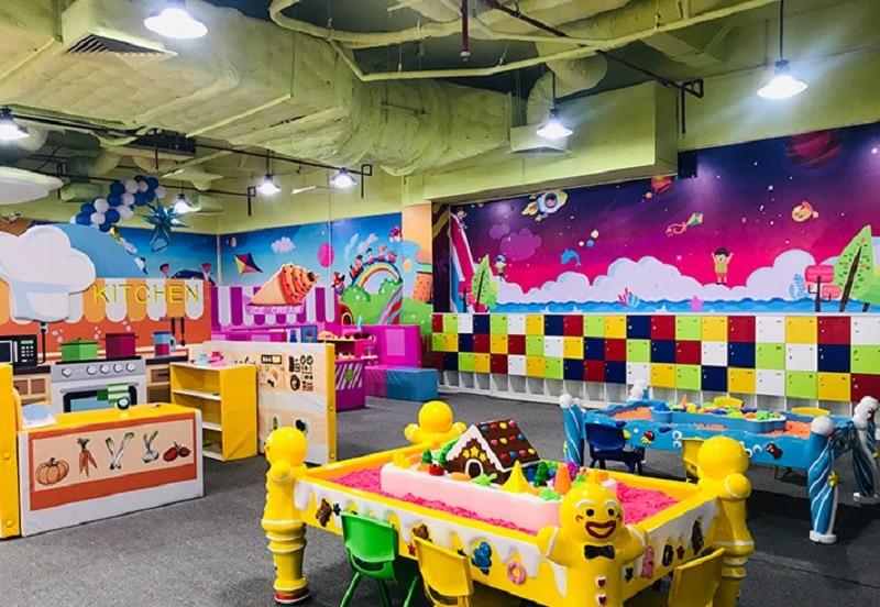 Không gian vui chơi của trẻ nhỏ tại Amazing Town Hà Đông