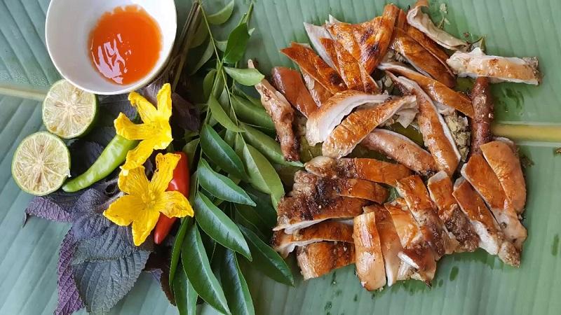 Dạ dày nướng ngũ vị thơm ngon chấm với tương ớt
