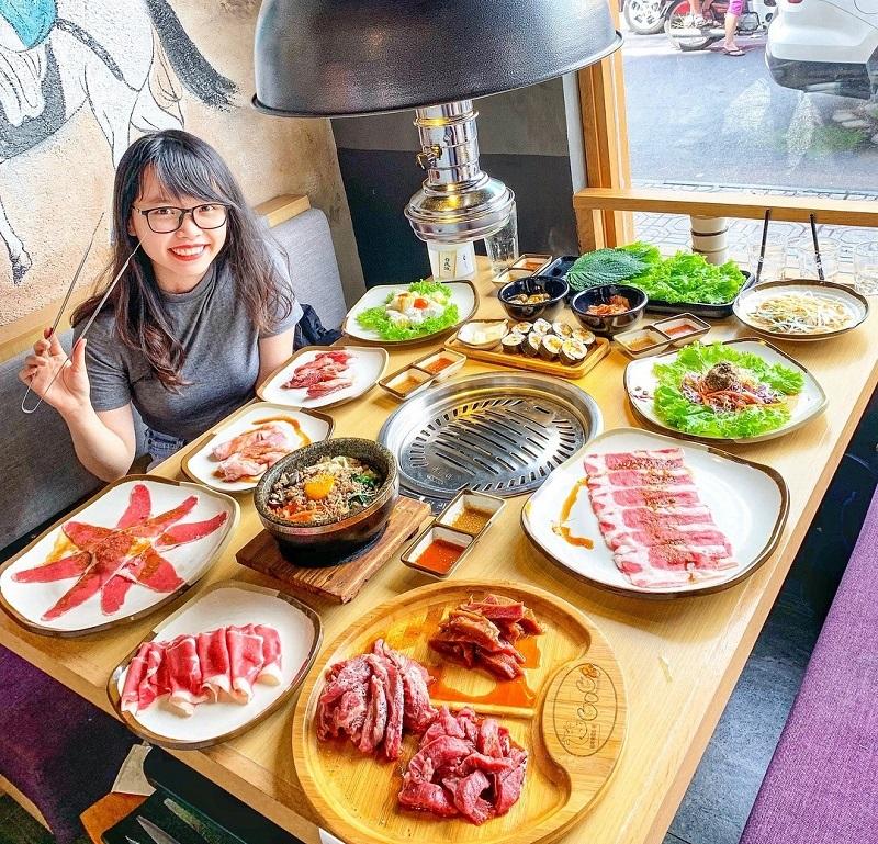 Các món nướng của gogi bbq bày trí đẹp mắt thu hút