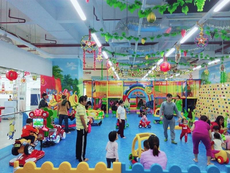 Không gian vui chơi nhiều màu sắc cho trẻ nhỏ tại Funny Time Au Chan
