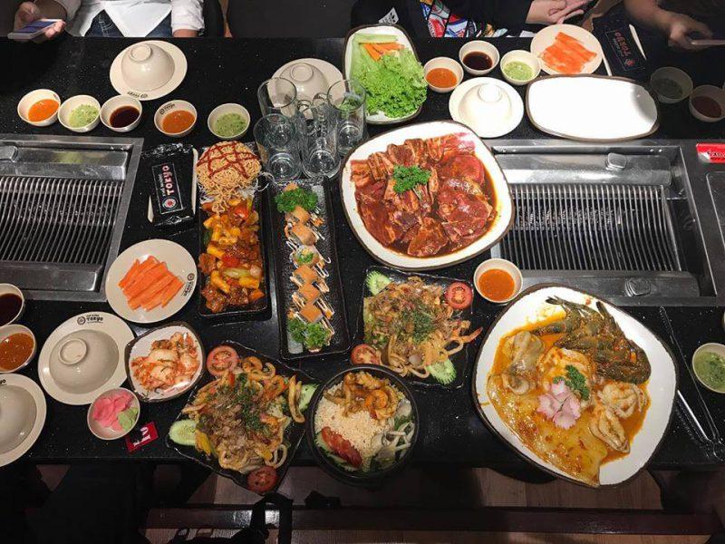 Các món ăn tại phố nướng Tokyo Đà Nẵng