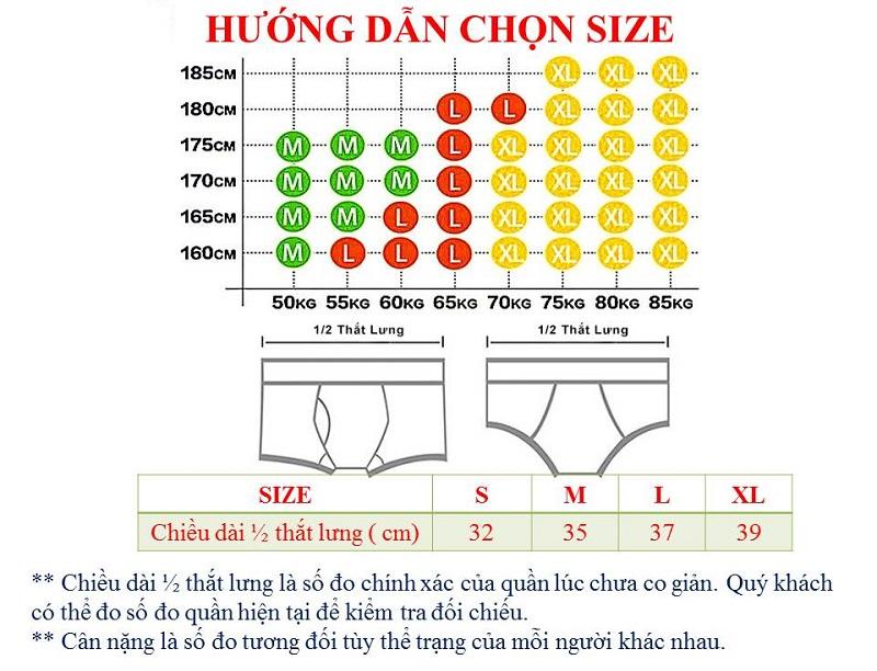 Hướng dẫn chọn size quần lót nam chi tiết